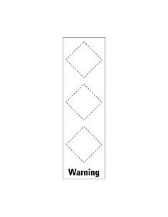Basisetiket Warning, voor 3 GHS-pictogrammen, zelfklevende folie (sticker)
