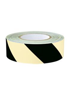 PERMALIGHT power Waarschuwingsmarkeringsband,links,geel naschijnend/zwart, 16m/rol