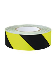 PERMALIGHT power Waarschuwingsmarkeringsband,links, fluorescerend geel/zwart, 25m/rol