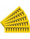 Sticker letters geel/zwart teksthoogte: 60 mm