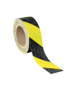 PERMALIGHT plus Antislip waarschuwingsmarkering, geel-naschijnend fluorescerend/zwart, 6m