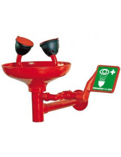 Model ET300 oogdouche wandmodel met kunststof kom