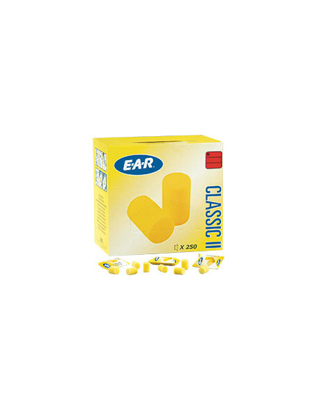 3M EAR dispenserbox doppen Classic II,EN 352-2,geel,pvc-schuimstof,250 paar/VE