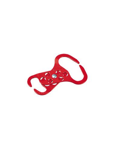 Multi-inzetbare sluitklemmen Duo, Mehrfachverriegelung, rood, staal, 137 x 46x30 mm