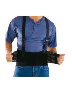 Rückenstützgurt, schwarz, elastisches Nylongewebe, Größe L
