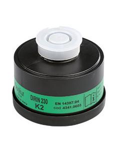 EKASTU ademhalingsbeschermingfilter K2,EN 141,schroefaansluiting volgens EN 148/1,DIRIN230