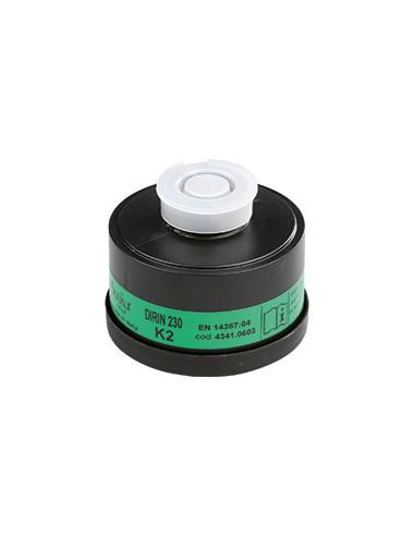 EKASTU ademhalingsbeschermingfilter K2, EN 141, schroefaansluiting volgens EN 148/1, DIRIN230