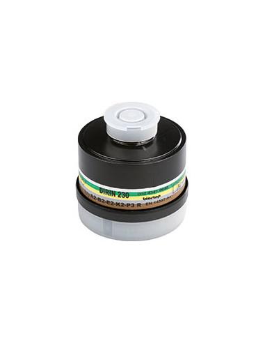 EKASTU ademhalingsbeschermingfilter A2B2E2K2-P3R D , EN 141, schroefaansluiting