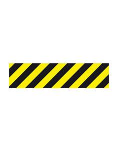 Antirutschbelag gelb/schwarz, Safety-Walk Typ 1, Rutschhemmung R9, 800x200mm
