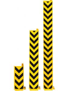 Aanrijbeschermingshoek L-vorm, voor bodemmontage met pijlen