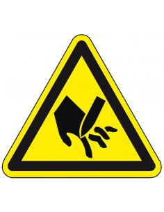 Waarschuwingssticker 'Waarschuwing voor snijgevaar', SL 50 mm, 10/kaart
