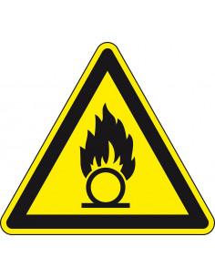 Waarschuwingsbord 'Waarschuwing voor oxiderende stoffen', ISO 7010, SL 200 mm