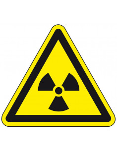 Waarschuwingsbord 'Gevaar voor radioactieve stoffen', ISO 7010