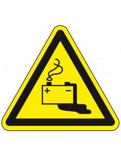 Waarschuwingsbord 'Let op accu', ISO 7010