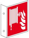 Haaks bord brandslang, 200 x 200 mm, kunststof, ISO 7010, F002