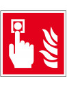 Bord brandmelder pictogram, ISO 7010