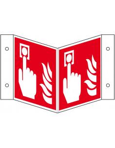 Wigbord brandmelder pictogram, ISO 7010