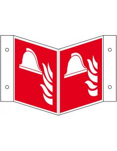 Wigbord materiaalopslag brandbestrijding pictogram, ISO 7010