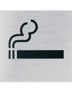 Sticker 'Roken toegestaan', edelstaal pictogram