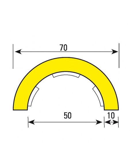 Stootrand leidingprofiel Type R2