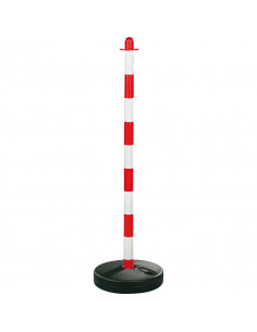 Mobiele afzetpaal standaard rood/wit