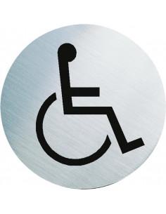 Stalen WC bordje gehandicapten