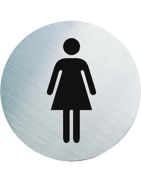 Stalen WC bordje dames