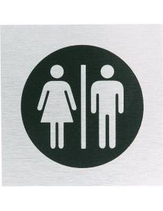 Aluminium WC bordje dames/heren