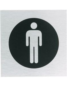 WC bordje heren, roestvrij aluminium