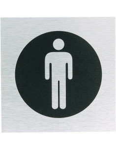 WC bordje herentoilet, roestvrij aluminium