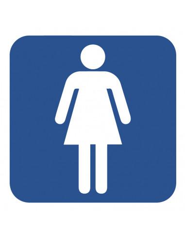 WC deur sticker toilet dames
