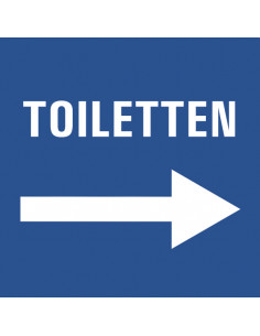 Wc deur sticker toiletten rechts