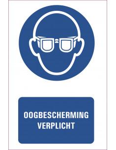 Tekststicker ''oogbescherming verplicht''