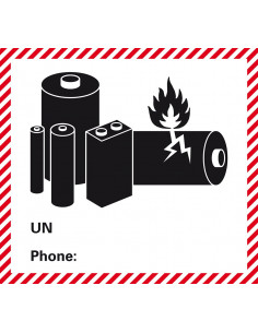 Sticker 'Lithium-Ion Batteries' verpakkingsetiket