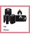 Sticker 'Lithium-Ion Batteries' verpakkingsetiket NIEUW, met tel. nummer