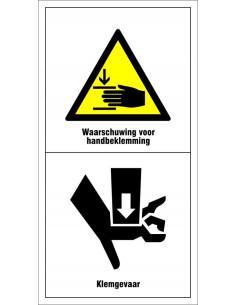Machinemarkering 'Zet motor af en verwijder sleutel voor onderhoud en reparatie werkzaamheden!'