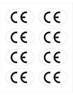 CE-label, ovaal, zelfklevende folie (sticker)