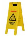 """Inklapbaar waarschuwingsbord """"pas op, gladde vloer"""""""