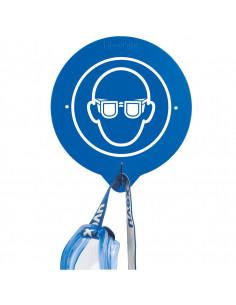 Wandhaken voor veiligheidsbril, 196x216 mm, hakenlengte 50 mm
