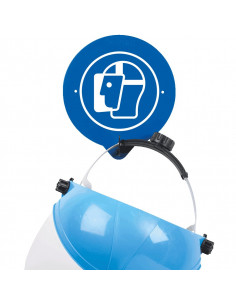 Wandhaken voor gezichtsbescherming, 196x216 mm, hakenlengte 50 mm