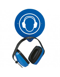 Wandhaken voor gehoorbescherming