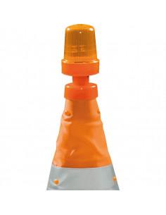 Flitslicht voor opvouwbare verkeerskegel / verkeerspion