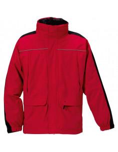 Weersbestendige werkjas 3 in 1, rood/zwart