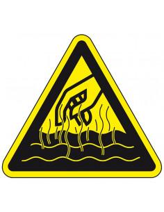 Waarschuwingsbord 'Gevaar voor hete vloeistoffen en dampen'