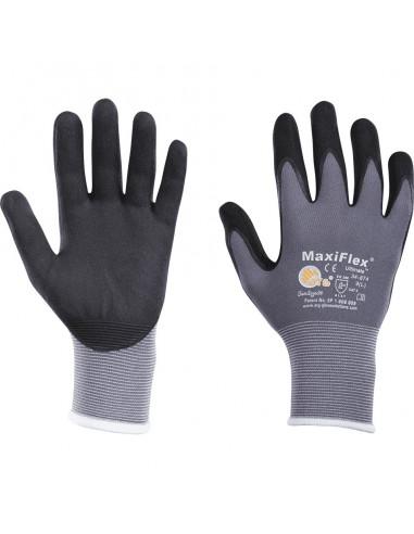 ATG handschoen MaxiFlex® Ultimate, Cat.II, grijs / zwart, nylon, 230mm