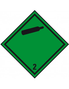 Sticker 'Kl. 2. 2 Niet ontvlambare gassen onder druk', 500/rol