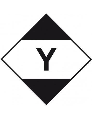 ADR sticker beperkte hoeveelheden met tekst, zeewaterbestendig, wit zwart, met tekst Y