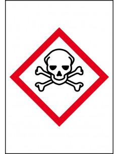 GHS sticker 06 'doodshoofd' voor leidingmarkeringen