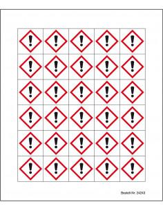 Minisymbool GHS07 'giftige stoffen', sticker