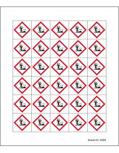 Minisymbool GHS09 'schadelijk voor het milieu', sticker